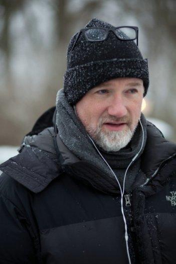 Il regista David Fincher sul set del film Millennium - Uomini che odiano le donne
