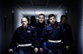 Pierfrancesco Favino, Filippo Nigro e Marco Giallini in una scena di A.C.A.B. di Stefano Sollima