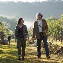 Terra Nova: Naomi Scott e Robert Coleby nell'episodio Proof