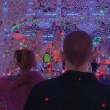 Una psichedelica immagine del dramma Enter the Void di Gaspar Noé