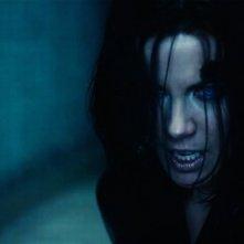 Underworld: Il risveglio, lo sguardo malvagio di Kate Beckinsale in una scena del film