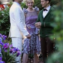 Leonardo DiCaprio, Tobey Maguire e Carey Mulligan sul set di The Great Gatsby
