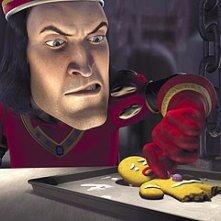 Shrek: il malvagio Lord Farquaad tortura il povero Pan di Zenzero