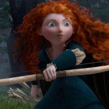 Brave - Coraggiosa e ribelle: una bella immagine di Merida con il suo arco tratta dal film