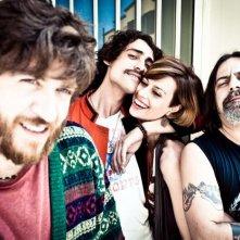 I più grandi di tutti: Alessandro Roja, Marco Cocci, Claudia Pandolfi e Dario 'Kappa' Cappanera in una foto promozionale del film