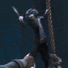 Il gatto con gli stivali: Kitty zampe di velluto in una scena del film