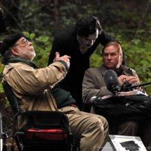 Francis Ford Coppola sul set di Twixt insieme a Val Kilmer e Ben Chaplin