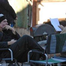 Francis Ford Coppola sul set di Twixt si rilassa con Val Kilmer