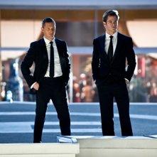 Colleghi nel lavoro e in amore, ecco le spie Chris Pine e Tom Hardy in Uno spia... l'altro pure