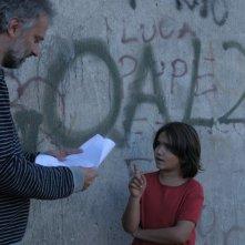 Giampaolo Stella sul set di Ruggine con Daniele Gaglianone