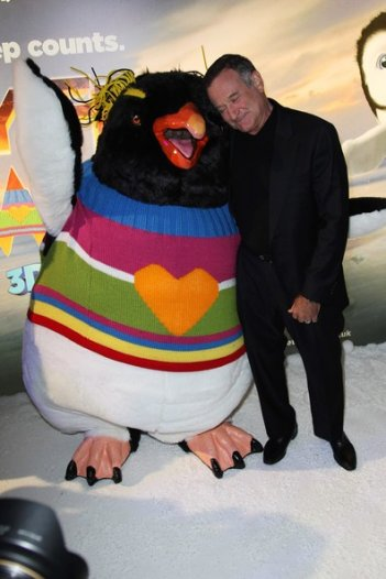 Happy Feet 2: Robin Williams alla première londinese