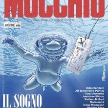 Una caricatura di Silvio Berlusconi in copertina su il Mucchio Selvaggio che richiama la cover di Nevermind dei Nirvana.