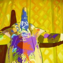 una coloratissima sequenza del film d'animazione Le tableau