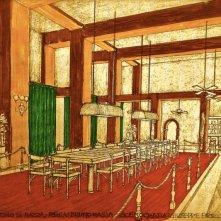Un Uomo di Razza: Bozzetto scenografia del casinò firmato da Giuseppe Pirrotta