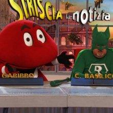 Il Gabibbo con Massimo Bosso in Capitan Basilico 2