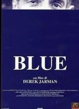 Blue di Derek Jarman - la locandina