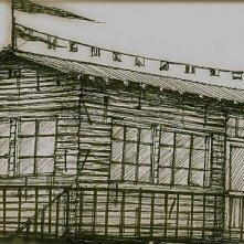 Femmina: bozzetto scenografia del capanno sulla spiaggia realizzato da G. Pirrotta