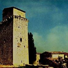 L'Arcano Incantatore -scenografia di Giuseppe Pirrotta - esterno della torre Biblioteca