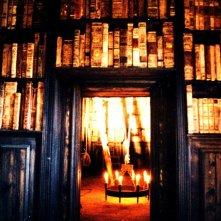 L'Arcano Incantatore -scenografia di Giuseppe Pirrotta - ingresso della torre Biblioteca