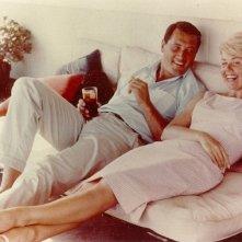 Rock Hudson e Doris Day in un momento di relax