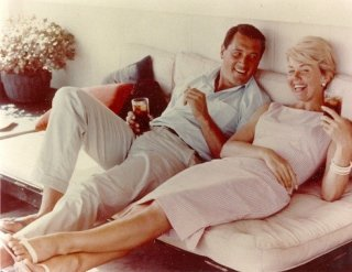 Rock Hudson e Doris Day in un momento di relax