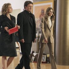 Castle: Kristin Lehman, Nathan Fillion e Stana Katic nell'episodio Eye of the Beholder