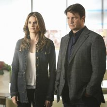 Castle: Nathan Fillion e Stana Katic nell'episodio Head Case