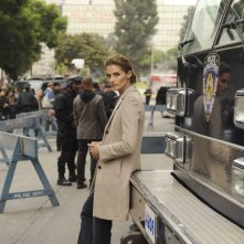 Castle: Stana Katic in una scena dell'episodio Cops & Robbers