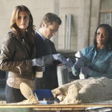 Castle: Stana Katic, Seamus Dever e Tamala Jones nell'episodio Kick the Ballistic