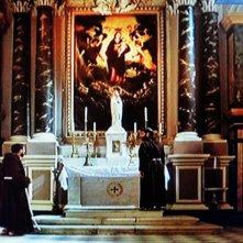 Film TV -Padre Pio: scenografia interno chiesa realizzata da Giuseppe Pirrotta per il film tv