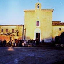 Padre Pio: scenografia chiesa e piazzale antistante realizzate da Giuseppe Pirrotta per il film tv