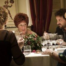 Finalmente la felicità: Leonardo Pieraccioni a tavola in una scena del film