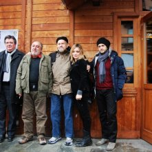 Foto della giuria di Courmayeur 2011 di fronte al Jardin de l'Ange