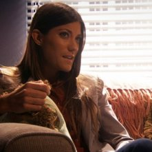 Jennifer Carpenter in una scena dell'episodio Talk to the Hand