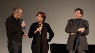 Dario Argento insiema ai direttori di Courmayeur 2011 Giorgio Gosetti e Marina Fabbri