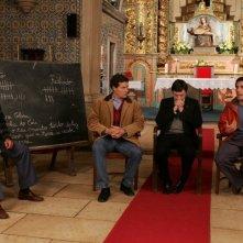 João Tempera, Adriano Luz e Tony Correia in una scena di Aguasaltaspuntocom - un villaggio nella rete