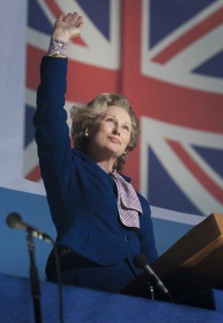 Meryl Streep nei panni di Margaret Thatcher in una scena di Iron Lady