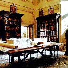 Film TV - Padre Pio - scenografia della biblioteca del convento realizzata da Giuseppe Pirrotta