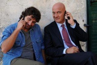 Claudio Bisio e Alessandro Siani sul set di Benvenuti al Nord