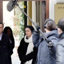 Elena Sofia Ricci e Massimo Poggio sul set della fiction di Rai Uno, Che Dio ci aiuti
