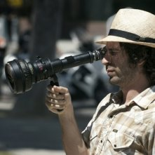 Spencer Susser, regista di Hesher è stato qui, sul set del film