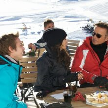 Vacanze di Natale a Cortina: Sabrina Ferilli, Christian De Sica in una scena del film insieme al giovane Alessio Chiodini