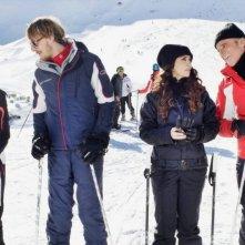Vacanze di Natale a Cortina: Sabrina Ferilli, Christian De Sica, Niccolò Senni e Silvia Quondamstefano si preparano alla discesa