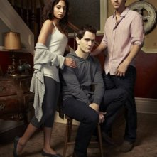 Being Human: Meaghan Rath, Sam Witwer e Sam Huntington in una foto promozionale della seconda stagione
