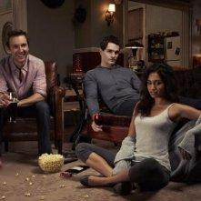 Being Human: Meaghan Rath, Sam Witwer e Sam Huntington in una immagine promozionale della seconda stagione