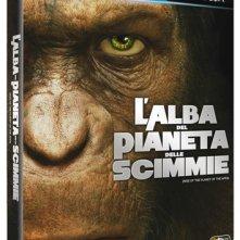 La copertina di L'alba del pianeta delle scimmie (blu-ray)