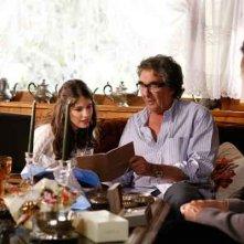 Vacanze di Natale a Cortina: Patricia Varvari con il regista Neri Parenti sul set