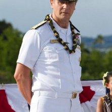 Liam Neeson nei panni dell'ammiraglio Shane in una scena di Battleship