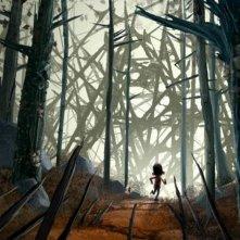 ParaNorman: Norman corre nel bosco in una scena del film