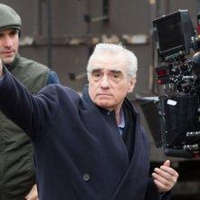 Martin Scorsese da indicazioni sul set di Hugo Cabret